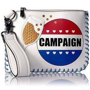 Sam Edelman Circus Campaign White Clutch/Wristlet